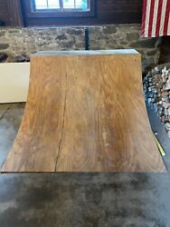 Handmade Wooden Skate Ramp Plywood Planks, Coated With Skate Paint