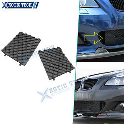 2x Front Bumper Lower Mesh Grille Overlay Molding Cover For Bmw 525i 2004-2007
