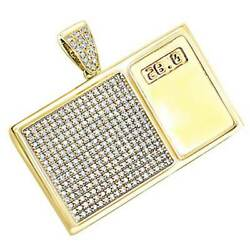 4 Ct Simulated Diamond 14k Yellow Gold Over Menand039s Digital Scale Pendant