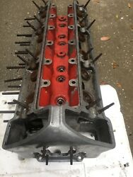 Early Xk120 Studless Cylinder Head Jaguar C.2242/1 W Cam Bearing Caps And Covers