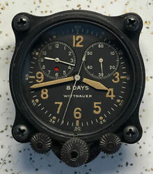Longines-wittnauer Co. Inc. Elapsed Time Aviation Clock A-7 Size Aircraft