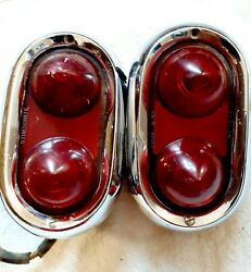 1950 1951 1952 Buick Tail Lights Housing Assembly Pair Genuine Used Guide R-401