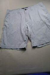 American Eagle Shorts Mens 36 Blue White Cotton Casual Outdoors Chino Preppy Men