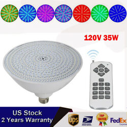 120v 35w 7color Change Swimming Pool Led Light Ip64 W/remote For Pentair Hayward