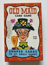 Vintage Old Maid Card Game Shaped Cards Built Rite Toys Complete - Very Nice