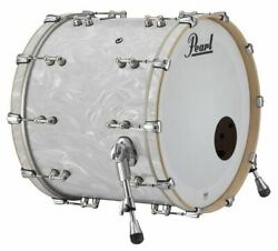 Pearl Music City Custom Reference Pure 26x18 Bass Drum No Mount White Satin Moir