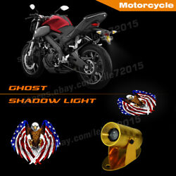 Motorcycle American Usa Flag Eagle Logo Indicator Projector Ghost Shadow Lights