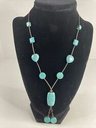Beautiful Vintage Native American Sterling Silver Turquoise Necklace