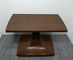 Gusdorf Vintage Mid Century Modern Formica Rolling Swivel Tv Tulip Stand Cart