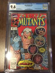 New Mutants 87 Cgc 9.6   1 St App Of Cable