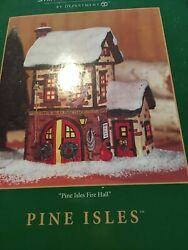 Dept 56 Lighted Building 06145 - Simple Traditions Pine Isles Fire Hall