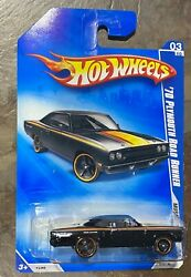 Hot Wheels Muscle Mania #x27;09 Black1970 Plymouth Road Runner 1:64 Diecast