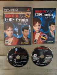 Resident Evil Code Veronica X 5th Anniversary Ps2 W/ Rare Demo Variant See Pic