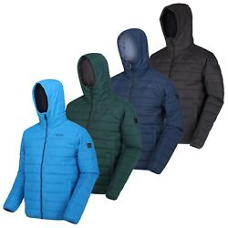 Regatta Helfa Mens Padded Water Repellent Quilted Hooded Padded Jacket Rrp Andpound50