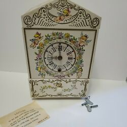 Vintage 1966 Hedeya Jewelry Box With Musical Clock Hands Motion Works Japan Rare