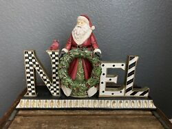 Mackenzie Childs Noel Mantle Piece Led Lights Retired Large Courtly Check Bird