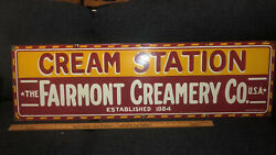 Vintage 1920s Porcelain The Fairmont Creamery Company Store Display Sign