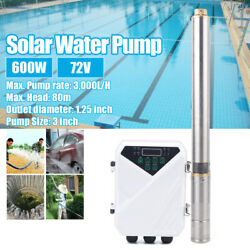 72v 600w Farm And Ranch Submersible Deep Solar Well Water Pump For Irrigation