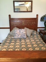 Antique 7ft Full Size Bed With Trundle Bed