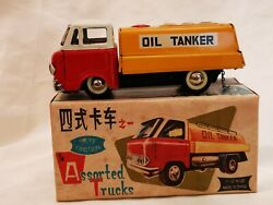 Mf 214 Oil Tanker Assorted Trucks Friction China Tin Toy Blechspielzeug Boxed