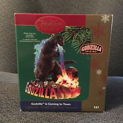 Carlton Cards Heirloom Ornament Godzilla Is Coming To Town 147 Magic Sound 2005