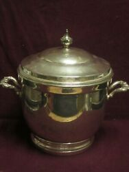 Poole Sterling Ice Bucket 55 Glass Liner 9 1/2 X 9 1/2 2073g Total No Mono