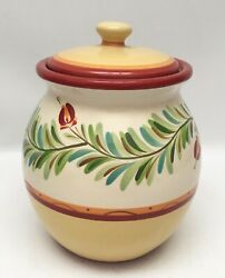 """Southern Living At Home Gail Pittman Siena Cookie Jar Canister 9"""""""