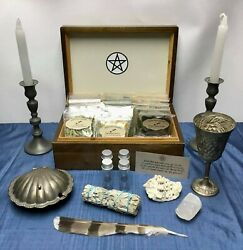 Huge Wiccan Herb Kit Witchcraft Witch Spells Potions Pagan Altar