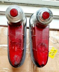 1955 Plymouth Tail Lights Housing Assembly Pair Genuine Used Plybb 21