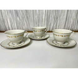 Royal Doulton Fairfax Fine China 3 Cups And 3 Saucers Doulton And Company Limited