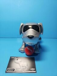 Working Tekno Interactive Robotic Puppy Dog Silver Vintage 90's By Manleytoy