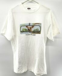 Yo Quiero Taco Bell Dog In Rear View Mirror White T-shirt Size Large 1998