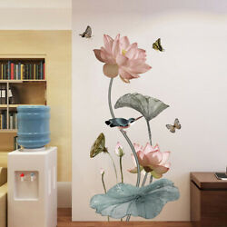 Lotus Wall Stickers Large Decorative Stickers Living Room Home Decor: