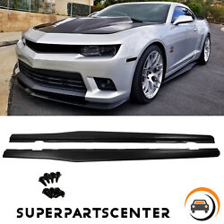 Side Skirts Extention Add-on Rocker Panels For 2010-2015 Chevy Camaro Lt Ls Ss