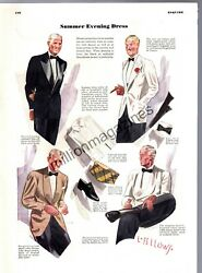 1937 - Summer Evening Coats, Ties, Shoes And Shirts - By Laurence Fellows