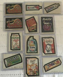 1973-74' Topps Wacky Stickers Original 12 Different Stickers Brown Backing