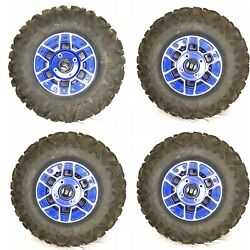 Can Am Maverick X3 Xrs Tire With Oem Beadlock Front And Rear Wheel Rim Set 4