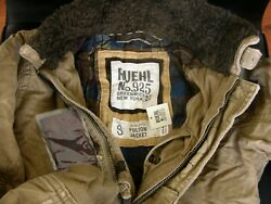 Ruehl No.925 By Abercrombie And Fitch Padded Military Bomber Jacket Faux Fur Nwt