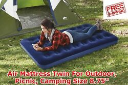 Air Mattress Twin For Outdoor Picnic Camping8.75quot; Quick Release Valve Blue