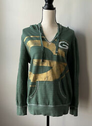 Nfl Green Bay Packers Majestic Womens Hoodie Size Large