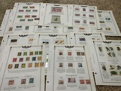 Us Stamp Lot On Complete Album Pages Mint Souvenir Sheets, Used And More