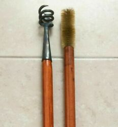 Black Powder Signal Cannon Bore Worm Rod And Brush Combo 1.75 - 2.5 Golf Ball