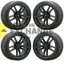 20x11 Ford Mustang Gt500 Black Chrome Wheels Rims Tires Factory Oem 10278 10279