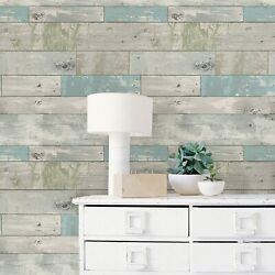 Peel And Stick Wallpaper Beach Wood Wall Furniture Sticker Contact Paper 30 Sq Ft