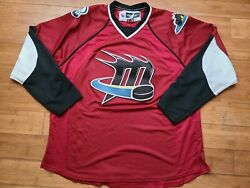 Vintage Mens Reebok Lake Erie Monsters Jersey Size Xl-red