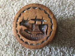 Antique Mini Laying Cow Butter Mold