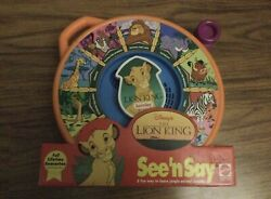 Brand New Mattel The Lion King See N Say Talking Animal Sounds Preschool Toy