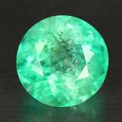 3.15 Cts 100 Natural Emerald Round Shape Green Color Loose Gemstone