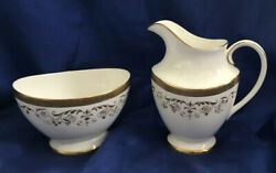 Royal Doulton Belmont H4991 Open Sugar Bowl And Creamer Set Discontinued