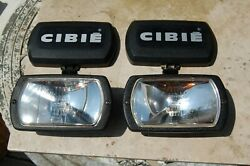 Vintage Cibie 95i Clear Fog Lamps, Pair Genuine, Complete W/covers